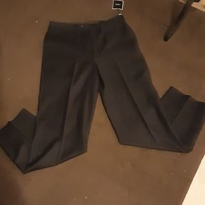 Black Stripe Suit Pants